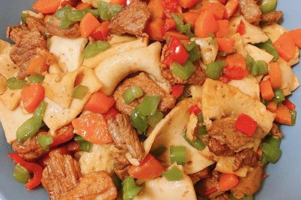 小炒千叶豆腐,简单又美味第九步
