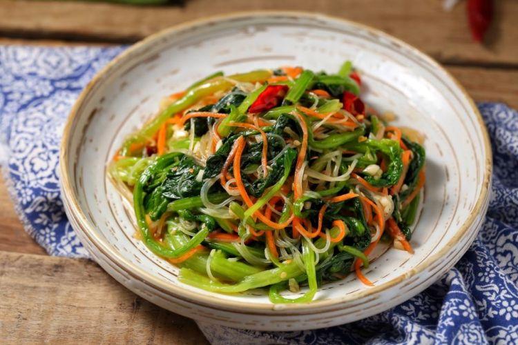 粉丝菠菜,超爱的一道菜,非常下饭