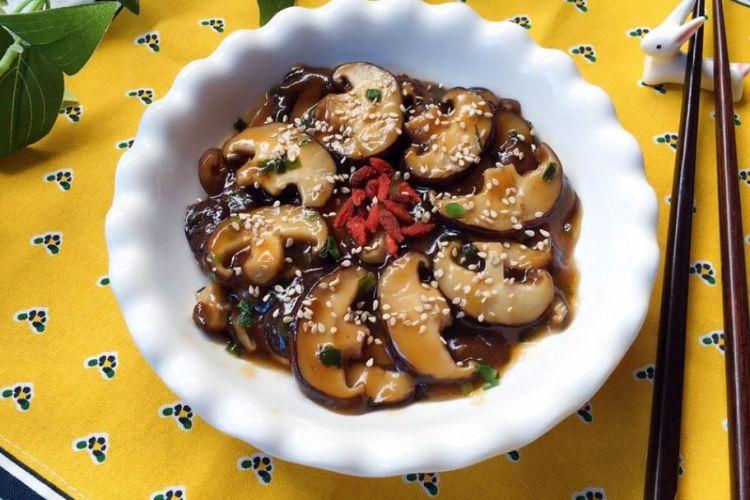 蚝油香菇,没想到素菜也能做的如此美味