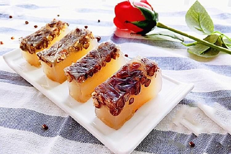 红豆马蹄糕,软糯可口甜而不腻