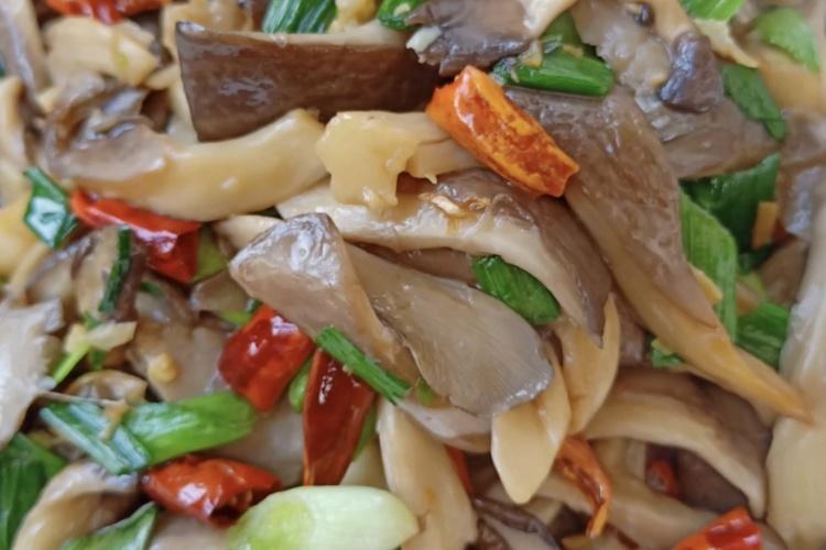 平菇炒大蒜——一道简单美味的下饭菜