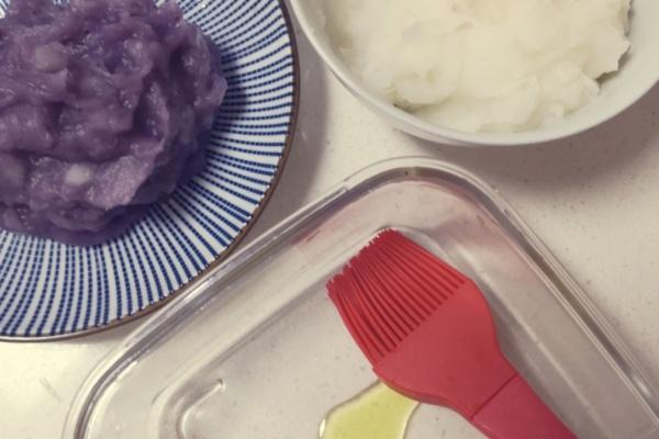 山药夹心蓝莓钵仔糕——细腻香浓的饭后小甜点第四步
