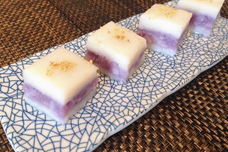 山药夹心蓝莓钵仔糕——细腻香浓的饭后小甜点