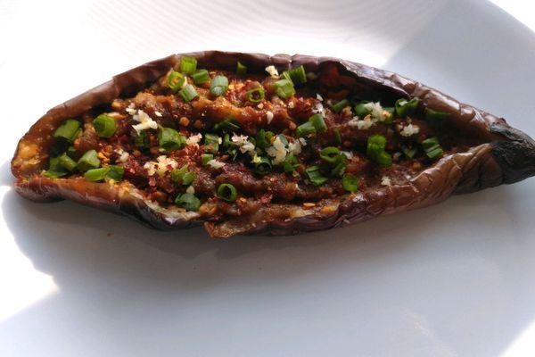 烧烤茄子,用平底锅也可以轻松制作第九步