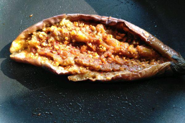 烧烤茄子,用平底锅也可以轻松制作第八步