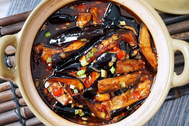 拌饭最佳,红烧茄子煲