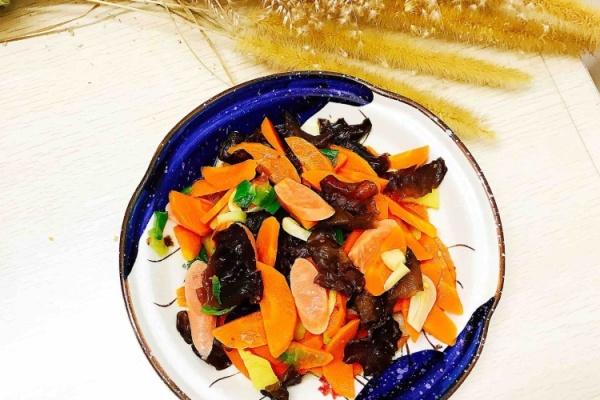 黑木耳炒胡萝卜这道菜成了我的最爱第八步