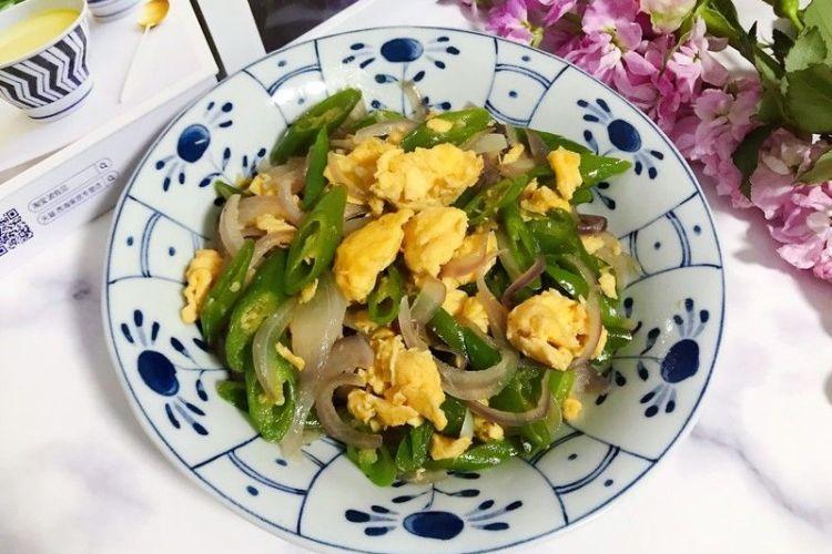 鸭蛋青椒洋葱,简单又下饭